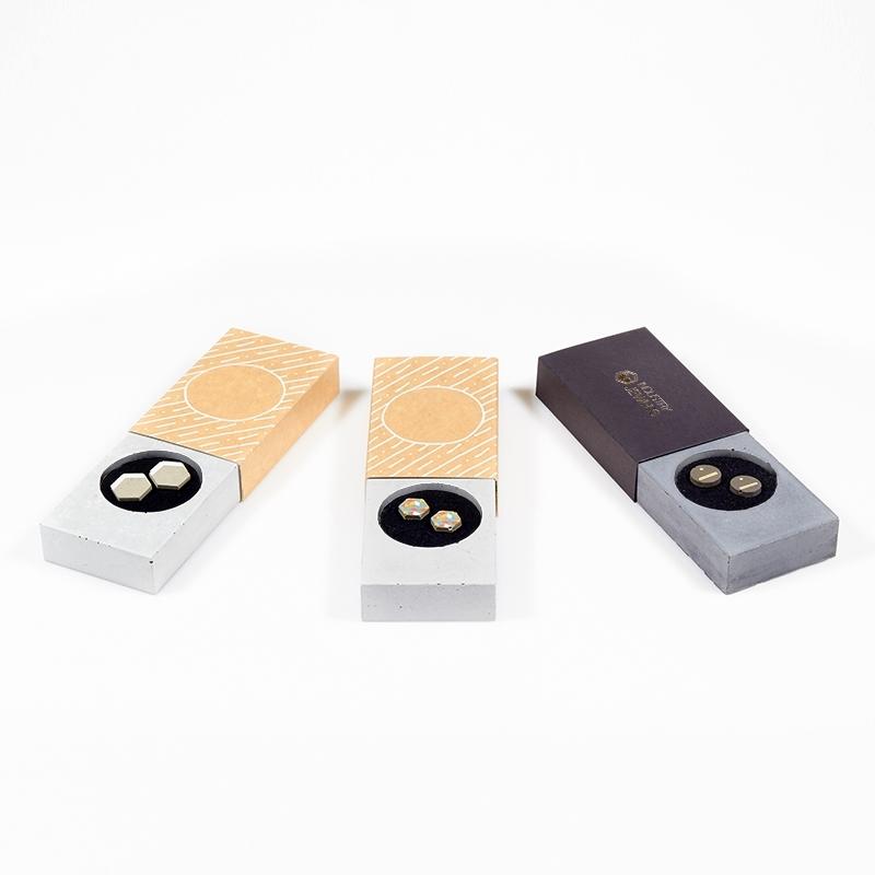 Náušnice z betonu Trio set